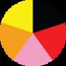 Μαυρο, Κοκκινο, Ροζ, Πορτοκαλι, Κιτρινο