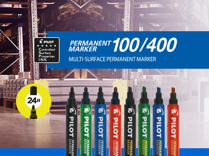 Multi-surface permanent marker by Pilot : Permanent Marker 100, Permanent Marker 400