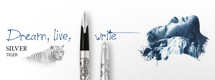 Pilot - Fine writing - Silver tiger