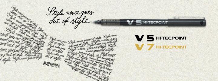 Pilot Στυλό με Υγρό Μελάνι και Κυλιόμενη Μπίλια V5/V7 Hi-Tecpoint