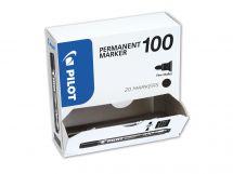 Permanent Marker 100 - Μαρκαδόρος - [XXLPACK] - ΜΑΥΡΟ - Λεπτό Άκρο