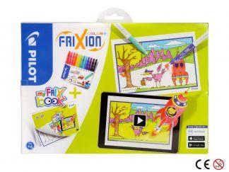 FriXion χρωματιστά - σειρά My FriX βιβλίο x 12 - Ποικιλία Χρωμάτων - Μεσαίο Άκρο