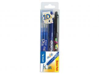 FriXion μπίλια - Στυλό με Gel Μελάνι και Κυλιόμενη Μπίλια - Πορτοφόλι 3 - Μαυρο, Μπλε - Μεσαίο Άκρο